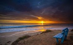 18 Stunning And Beautiful Sunset Photos - IntradayFun Waves On The Beach, Ocean Waves, Jean Arp, 10 Picture, Am Meer, Sunset Photos, Beach Landscape, Beautiful Sunset, Beautiful Scenery