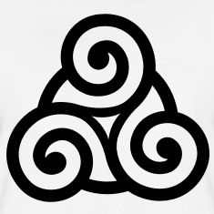 Minimal celtic triskelion symbolizing personal growth, human development, and spiritual expansion. Symbols And Meanings, Celtic Symbols, Celtic Art, Ancient Symbols, Celtic Knots, Irish Celtic Tattoos, Warrior Symbols, Celtic Knot Tattoo, Irish Symbols