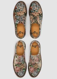 granny chic floral oxfords