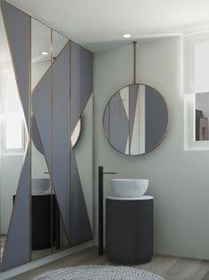 Tiberino washbasin with mirror of Arcadia collection by Cielo - design APG Studio #bathroom #washabasin #bathtub #ceramic #arcadiacollection #mirror #style #decor #homedesign #instacool #design #cielo #leterredicielo #tiberino #madeinitaly