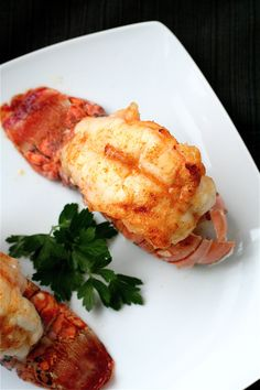 Broiled Lobster Tails with Garlic Butter Sauce--New Years Eve Seafood Dinner :) Fish Dishes, Seafood Dishes, Fish And Seafood, Fresh Seafood, Main Dishes, Lobster Recipes, Seafood Recipes, Cooking Recipes, Shellfish Recipes