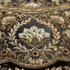 Spread the love HiI hope, You are all fine. Today I post about thread art which includes thread embroidery work. Zardosi Embroidery, Tambour Embroidery, Hand Work Embroidery, Couture Embroidery, Embroidery Motifs, Gold Embroidery, Embroidery Fashion, Embroidery Dress, Embroidery Designs