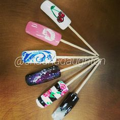 Advanced nail designs I created follow me on Instagram @shaunadaughton to see more of my work I'm an upcoming nail technician, hairdresser and tattoo artist. #nails #2k17nails #nailideas #naildesign #art #flowers #cherrys #graveyard #galaxy #beauty #colors #hairdresser #hair #diy #tattoos