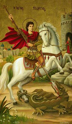 From Paraskevi Anthimou Good Friday Images, Saint George And The Dragon, Saint Barbara, Catholic Pictures, Jesus Art, Best Icons, Dinosaur Art, Catholic Saints, Orthodox Icons