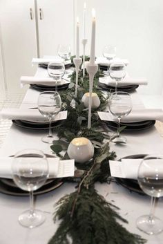 FOR CELEBRATIONS || Simple white christmas table setting || NOVELA BRIDE...where the modern romantics play & plan the most stylish weddings... www.novelabride.com (Instagram: @novelabride) #novelabride #jointheclique