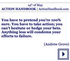 Is this Saturday your day to take action in your own life?  #dailyquote #quoteoftheday #book #ebook #ActionHandbook