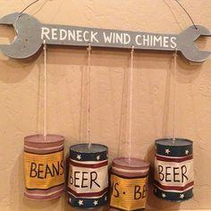 Haha #redneck #windchimes #beans #beer #xomaribella