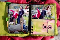 mini album using full pictures. love this idea