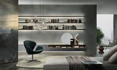 Shop the Self Wall Unit and more contemporary furniture designs by Rimadesio at Haute Living Luxury Interior, Modern Interior Design, Interior Architecture, Living Area, Living Spaces, Living Room, Muebles Living, Regal Design, Shelf Design