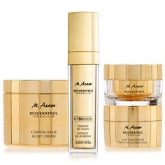M. Asam Resveratrol Premium 4-tlg. Gesichts- und Körperpflege-Set Nail Polish, Lipstick, Cream, Face, Beauty, Youth, Nursing Care, Creme Caramel, Beleza
