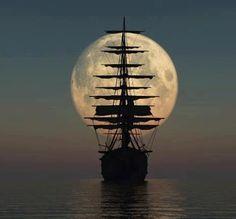 ship moon from Hanna Mermaid