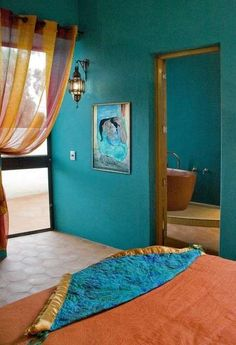 Idee per le pareti della camera da letto - Colore parete camera da letto verde