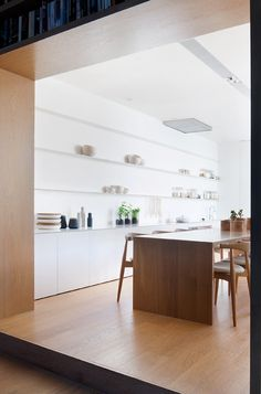 Studio Four uses pale oak to brighten Alfred Street Residence interior