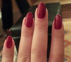 Deep red nails, Nicole by OPI