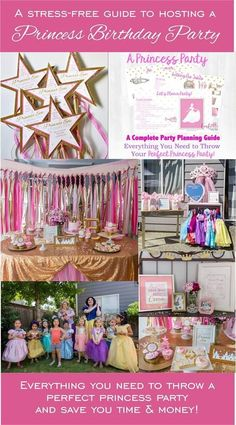 Your stress-free guide to hosting a magical princess birthday party. Easy princess party decor, menu plans, and princess activities. The perfect royal celebration for your little girl! Little Girl Birthday, Disney Birthday, Princess Birthday, Birthday Party Celebration, 6th Birthday Parties, Princess Activities, Princess Party Decorations, Royal Party, Royal Baby Showers