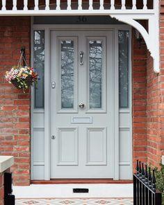 New victorian etched glass door design Ideas Victorian Front Doors, Wooden Front Doors, Front Door Entrance, House Front Door, Painted Front Doors, Glass Front Door, Front Door Decor, Entry Doors, Wood Doors