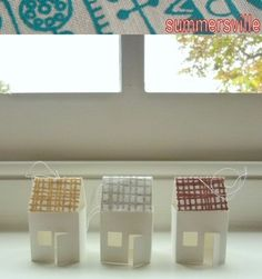 little house paper - cute as a garland with string of lights