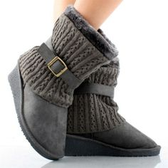 Dottie Couture Boutique - Wedge Boot- Grey, $32.00 (http://www.dottiecouture.com/wedge-boot-grey/)