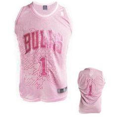 Chicago Bulls #1 Derek Rose Women Pink Jersey