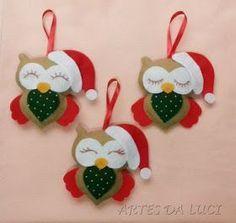 Artes da Luci: Enfeites de Natal em feltro