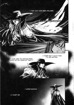 Tags: Scan, Vampire Hunter D, Manga Page, D (Character)