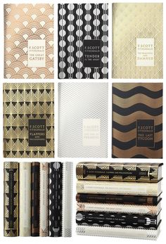 love these glorious F Scott Fitzgerald covers - would love to own some of these beautiful editions of a few of my favorite classic titles