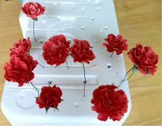 Gum Paste Flowers #1: How to Make Carnations on Wires - by cakedarla @ CakesDecor.com - cake decorating website