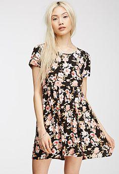 Floral Print Babydoll Dress | Forever 21 - 2000082386