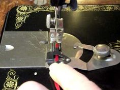 How to use an underbraider on a vintage sewing machine - 1916 Singer 99K