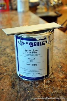 Wood Grain filler - use before painting my oak cabinets. Evolution of Style: Say Goodbye to Oak Grain Behlen Water Base Grain filler