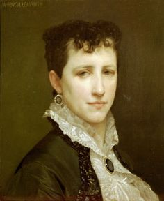 Portrait de Mademoiselle Elizabeth Gardner by William Bouguereau. She declined painting a mural for the Columbian Exposition because she was worried about the physical work involved.