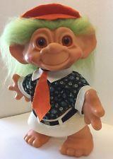 """Vintage Rare 11"""" Groovy Mod Troll Doll w/ Original cap -Thomas Dam Things 1964"""