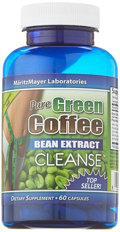 Pure Green Coffee Bean Extract Cleanse 60 Capsules 1 Bottle ** Review more details here : Weight Management