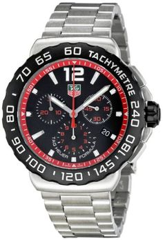 TAG Heuer Men's CAU1116.BA0858 Formula 1 Black Dial Stainless Steel Watch - Listing price: $1,700.00 Now: $1,275.53