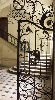 Wrought Iron in a Parisian Apartment Building