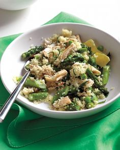 Spring-Vegetable Couscous with Chicken - Martha Stewart Recipes