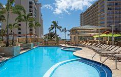 Splish and splash at Embassy Suites Waikiki Beach Walk in Hawaii! Photo: Apple Vacations click image to find a travel advisor near you Honolulu Hotels, Hawaii Hotels, Beach Hotels, Oahu Hawaii, Apple Vacations, Leisure Pools, Embassy Suites, Waikiki Beach, Hotel Stay