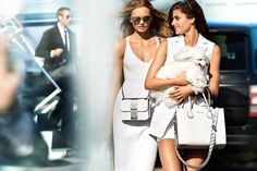 "Top models Taylor Hill and Romee Strijd are living the glam life in MICHAEL Michael Kors' spring-summer 2017 campaign. Photographed by Mario Testino, the pair look ready to take flight. Inspired by paparazzi shots, the images feature the new season's bold stripes, metallic accents and sleek eyewear. ""I wanted to capture the on-the-go, high-glam lifestyle …"