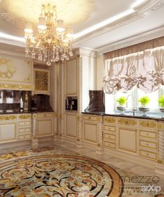 Belle Epoque #interiordesign #apartment #house #kitchen #cuisine #table #cookroom #classicism #30_50m2