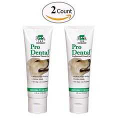 Enzymatic Toothpaste for Dogs Professional Tartar Control Gel Pack of 2 -- Click image to review more details. (This is an affiliate link and I receive a commission for the sales)