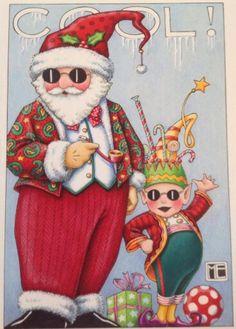 """ copyright Mary Engelbreit Enterprises, Inc. Christmas Gift Tags, Little Christmas, All Things Christmas, Vintage Christmas, Merry Christmas, Christmas Ideas, Holiday Ideas, Xmas, Mary Engelbreit"