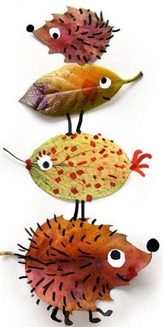 Thanksgiving & Autumn Art for Kids-Herfst / autumn Leaf Crafts, Fall Crafts, Christmas Crafts, Fall Leaves Crafts, Autumn Leaves, Projects For Kids, Diy For Kids, Craft Projects, Autumn Art Ideas For Kids