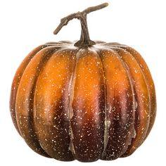 Tall Speckled Foam Pumpkin