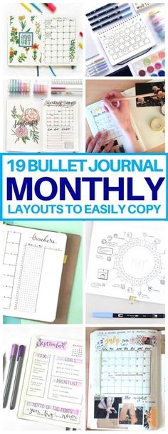This is EXACTLY what I needed! A list of bullet journal monthly spread ideas for… This is EXACTLY what I needed! A list of bullet journal monthly spread ideas for inspiration. Cannot wait to try these bujo layouts next month. Bullet Journal Inspo, Digital Bullet Journal, Bullet Journal Monthly Spread, Bullet Journals, Bujo Monthly Spread, Bullet Journal Printables, Bullet Journal For School, Bullet Journal Book List, Bullet Journal Layout Templates