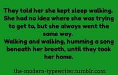 Writing Prompt -- Sleepwalking