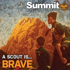 A Scout is Brave.  Point # 10 of the Scout Law.