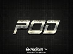 Sci-fi style – POD  (free photoshop layer style, text effect) #graphicriders