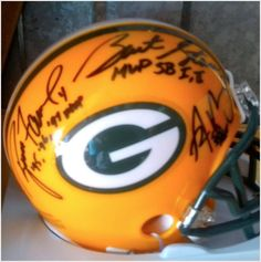 Green Bay Packers Quarterbacks Autographed Mini Helmet on eBid United States