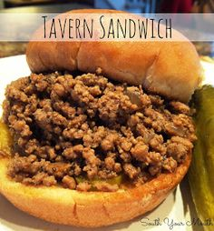South Your Mouth: Tavern Sandwich {a. Loose Meat Sandwich} South your mouth: Tavern Sandwich {a. Sandwich with loose meat} Sandwich Bar, Roast Beef Sandwich, Soup And Sandwich, Sandwich Recipes, Made Right Sandwich Recipe, Sandwich Ideas, Tavern Sandwich Recipe, Hamburger Recipes, Appetizers