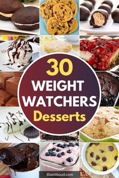 On the weight watchers diet and in the mood for something sweet? Here are 30 delicious weight watchers desserts recipes with SmartPoints for you to try!
